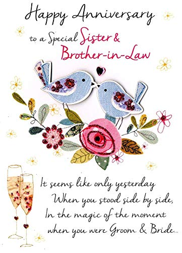 Just to Say Sister & Brother-In-Law Anniversary Greeting Card Second Nature Just To Say Cards (Happy Anniversary Sister And Brother In Law)