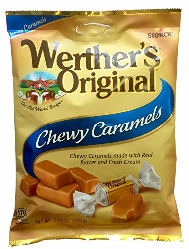 Werther's Original Chewy Caramels, 5.0-Ounce Bags (Pack of 12)