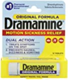 Dramamine Motion Sickness Relief Original Formula, 50 mg, 12 Count