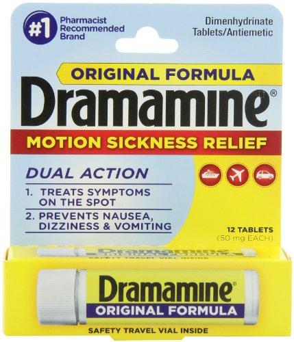 Dramamine Motion Sickness Relief formule originale, 50 mg, 12 comte