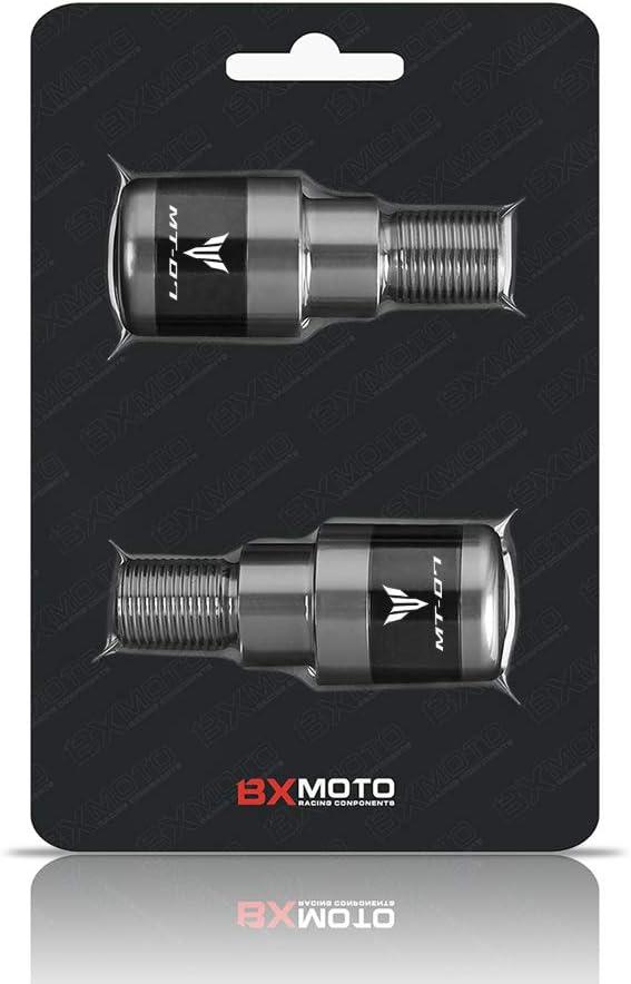 Bar End CNC Motorrad Lenkergewichte Lenkerenden Alu Set Dekoration passend f/ür Yamaha MT07 mt-07 FZ-07 2014-2019