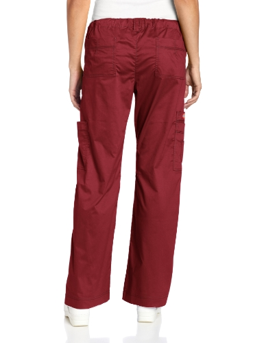 Dickies Scrubs Women's Gen Flex Junior-Fit Contrast Stitch Cargo Pant