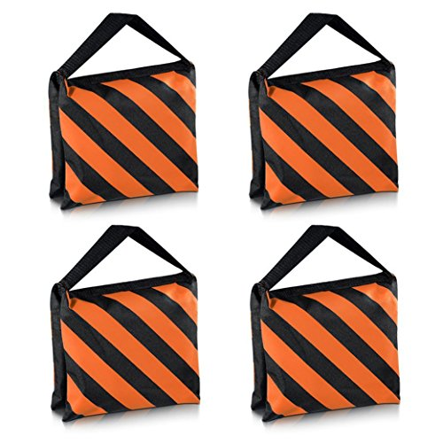 SODIAL(R) Heavyweight bag Heavy duty film bag for studio video studio for light supports tripod arms (4 Pcs Set, Black + Orange) by SODIAL(R)