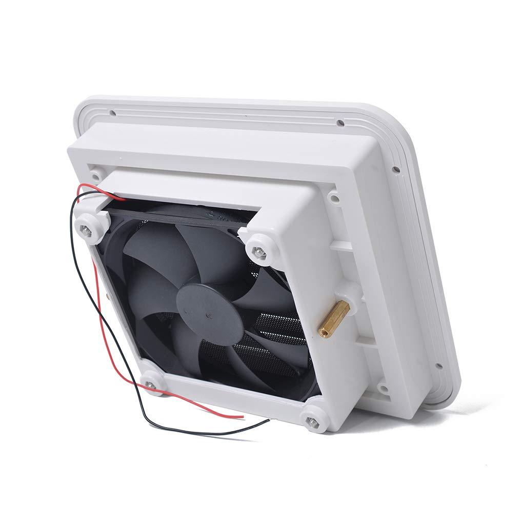 Demino Universal Motorhomes 12V White Air Vent Fan RV Trailer Caravan Side Air Ventilation Car Accessories