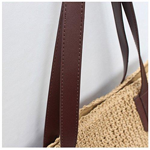 main mode Mme sac bandoulière Bag à Paille Fait Femme la de main paille Messenger Tendances Sacs Femmes à HopeEye à brun la 1 0wUYIcq