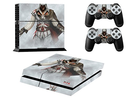 MightySticker® PS4 Designer Skin Game Console + 2 Controller Decal Vinyl Protective Covers Stickers for Sony PlayStation 4 - Assassins Creed 3 Rogue Brotherhood Unity Syndicate Dual Blade Mist