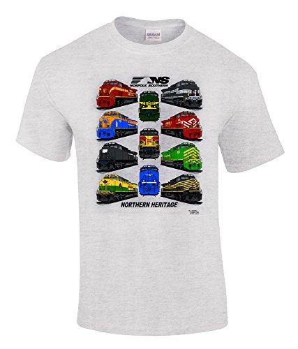 Daylight Sales Norfolk Southern Northern Heritage Authentic Railroad T-Shirt Adult X-Large [34] Gray