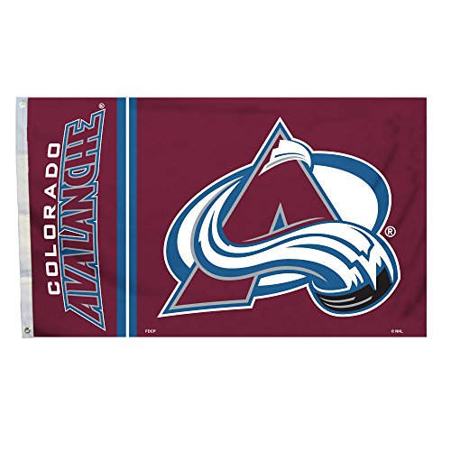 - NHL Colorado Avalanche 3 Ft. X 5 Ft. Flag with Grommets, Maroon,