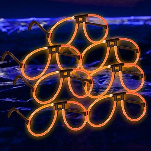 Glow Eyeglasses: Orange - Dark In Glow The Eyeglasses