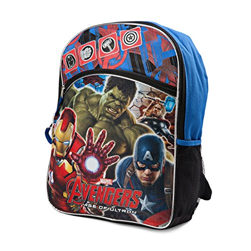 [Marvel Boys' Avengers Hulk, Ironman and Captain Backpack, Blue/Black] (Adult Black Suit Superman Costumes)