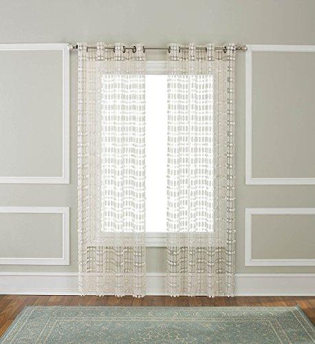 RENAISSANCE HOME FASHION AMELIA Macrame Grommet Panel - Macrame Curtain