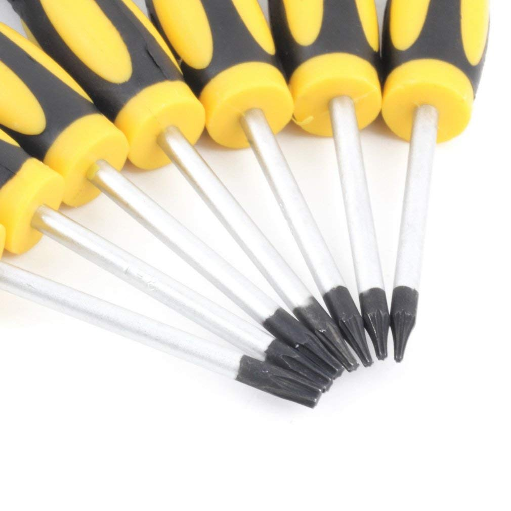 12pcs Destornillador T3-T10 pinzas Set Kit de reparaci/ón herramienta de la palanca de la tableta del tel/éfono celular