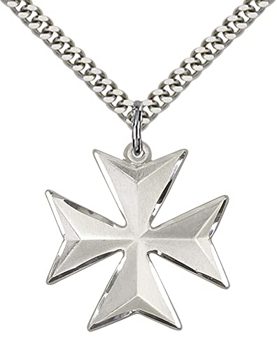 sterling new ideas cross in silver necklace blessing firefighter prayer gift pendant maltese with arrivals