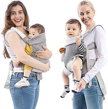 avec Bavette mommore Porte-b/éb/é Ergonomique,L/éger et Respirant 3,5 kg /à 15 kg Petite Pochette D/étachable pour 4 /à 24 mois