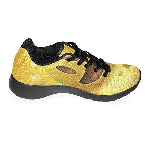 Interestprint Kvinna Jogging Kör Sneaker Lättvikts Gå Gång Casual Komfort Löparskor Smiley Emoji Uttryckssymbol Gul Multi 1