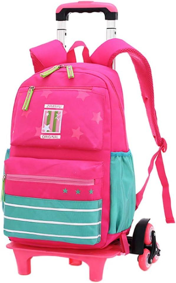 Gtagain Mochilas Bolsas Escolares - Mochilas Infantiles Niños Princesa Trolley Bolsa Extraíble Escuela de Estudiantes de Viajes Maleta con Ruedas