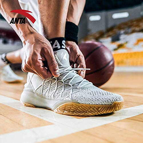 Anta Men's Shoes Basketball Shoes Men's Official Website Flagship Thompson Shoes KT3 Light Cavalry to be Crazy 4 Low to Help Sports Shoes 5, 39, Black/Anta White-2
