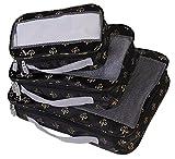 American Flyer Fleur De Lis 3 Pc Set Perfect Packing System, Black
