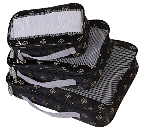 Fleur De Lis Luggage (American Flyer Fleur De Lis 3 Pc Set Perfect Packing System,)