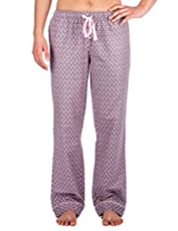 Twin Boat Womens 100% Cotton Flannel Lounge Pants