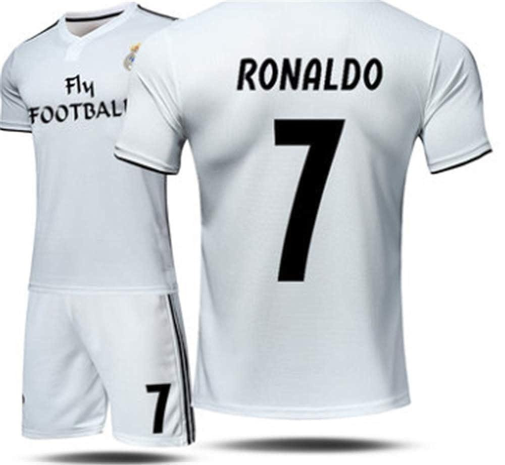 LISIMKE Soccer Team Home 2018//19 Real Madrid C Ronaldo #7 Kid Youth Replica Jersey Kit Jersey /& Shorts /& Socks