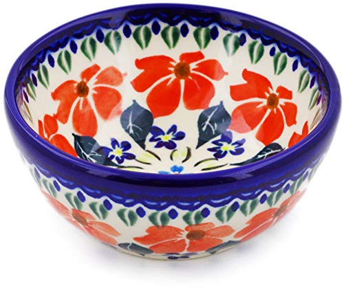 Polish Pottery 4-inch Bowl (Grecian Fields Theme) + Certificate of Authenticity