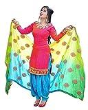 Spangel Fashion Women's Pink Cotton Unstitched Patiyala Salwar Suits/Patiala Dress Materials