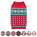 Blueberry Pet for Love of Holiday - Christmas Designer Dog Sweater, Back Length 12'', Pack of 1 Clothes for Dogs