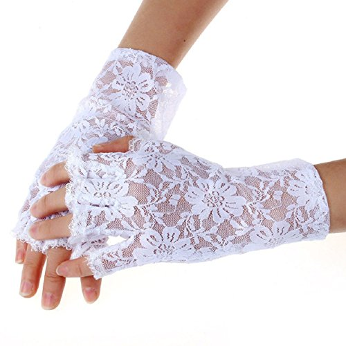 ABC(T (White Lace Fingerless Gloves)