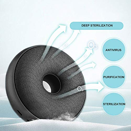 🥇 FreeLeben Mini Generador De Ozono Purificador De Aire Doméstico Esterilización Recargable USB Desodorización Tipo De Rosquilla Adecuado para Dormitorio