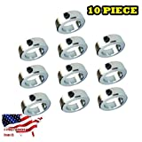 "Jeremywell SC-ZC-3/4-10PCS 3/4"" Bore Solid Steel Zinc Plated Shaft Collars Set Screw Style (0)"