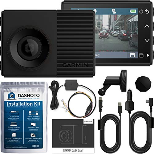 Garmin 56 HDR High Definition Dash Cam Bundle | 1440P QHD with HDR GPS Voice Control and WiFi | Hardwiring Kit and Installation Kit Included (New 2019) (Best Dash Cam With Speed Camera Alert)