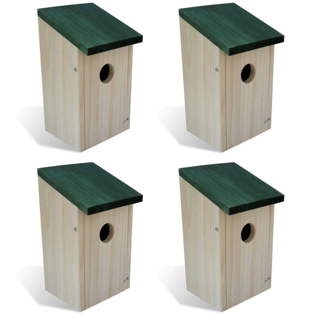 Youwend Bird House Nesting Box Wood 4 pcs by Youwend
