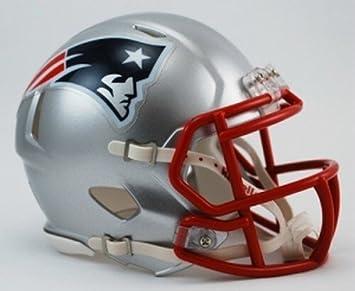 Riddell - Miniatura de casco de fútbol americano (diseño de los New England Patriots)