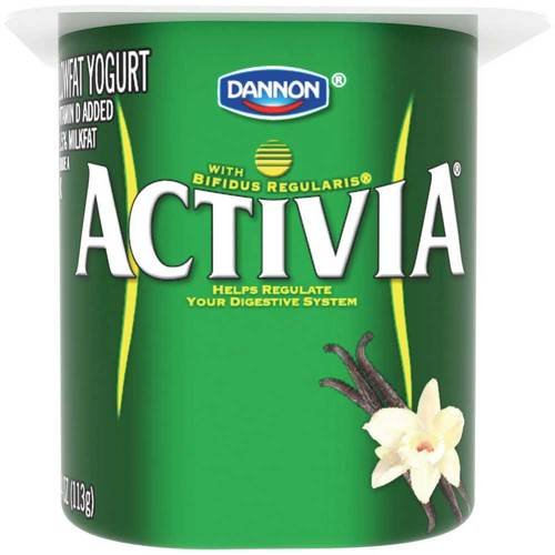 Activia Vanilla Probiotic Yogurt, 4 Ounce -- 24 per case.