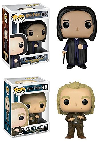 Funko Pop! Harry Potter Severus Snape + Peter Pettigrew – Vinyl Figure Set New