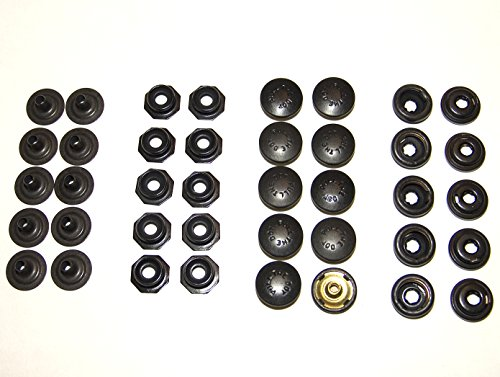 Pull The Dot Snap Fastener, Locking Snap, One-Way Snap, Black Oxide Finish, 10 Piece