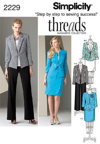 - Simplicity 2229 Misses / Miss Petite Jacket Pants Skirt (size 8-16) Sewing Pattern