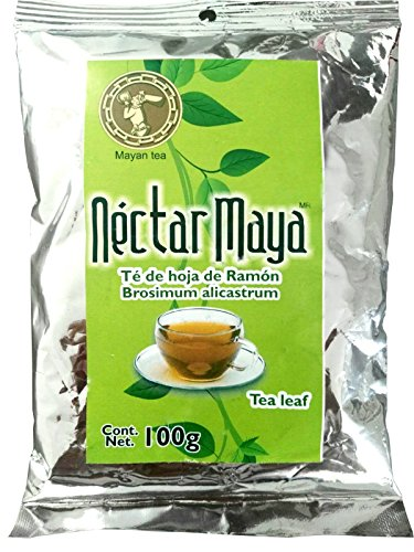 "Nectar Maya - Ramon Tree Leaf Tea - Green Leaves of the ""Brosimum Alicastrum"" tree. Caffeine Free. A Mayan Original - 100% Natural - Bag of Loose Tea - 100 gr - 3.5 OZ"