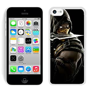 Mortal Kombat X Scorpion Equipment White Case Cover for iPhone 5C Grace and Cool Design