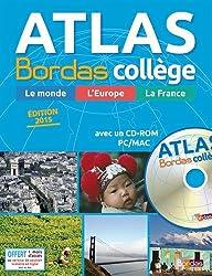 Atlas Bordas Collège + CD-Rom - Édition 2015