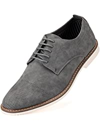 Mens Casual Shoes Suede Oxford Business Dress Shoes for Men - in A Shoe Bag
