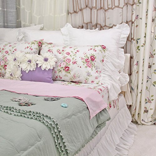 Queen's House Romantic Roses Bed Sheet Sets 4-Piece Full Size-Style L