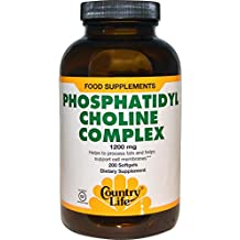 Country Life - Phosphatidyl Choline Complex, 1200 mg - 200 Softgels