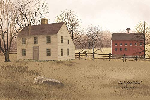 (New England Saltbox by Billy Jacobs Art Print, 18 x 12 inches)