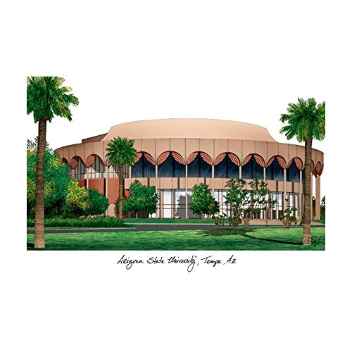 Campus Images Sports Team Logo Design Arizona State University Campus Images Lithograph Print