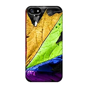 High Quality INk22068SyQi Colourful Leaf Cases For Iphone 5/5s