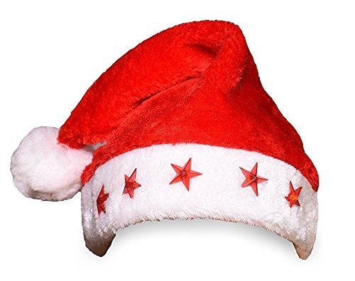 [3 Pcs Light-Up Star Santa Hat Set] (Girl Grinch Costume)