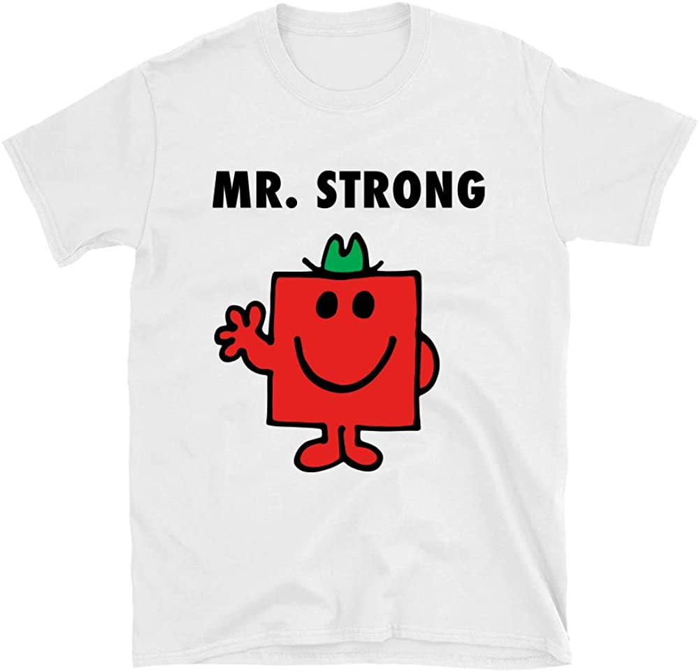 Postees Mr Strong Inspired by Mr Men Direct to Garment Printed T-Shirt