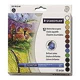 Staedtler Karat Aquarell Premium Watercolor Crayons, 223M12